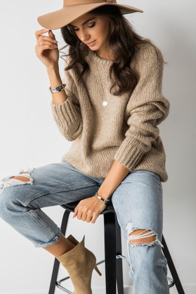 Sydney Sweter Oversize Cappuccino