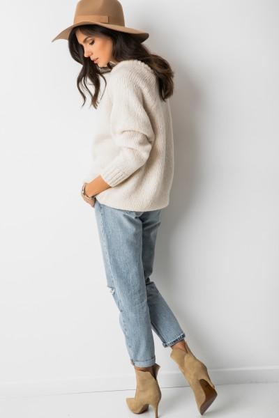 Sydney Sweter Oversize Ecru