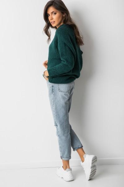 Sydney Oversizowy Sweter Butelkowa Zieleń