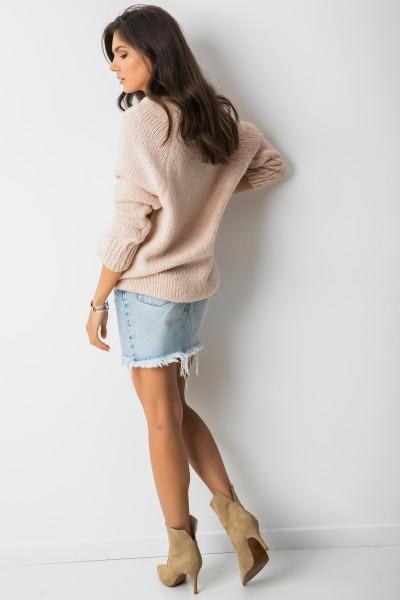 Sydney Sweter Oversize Pudrowy Róż