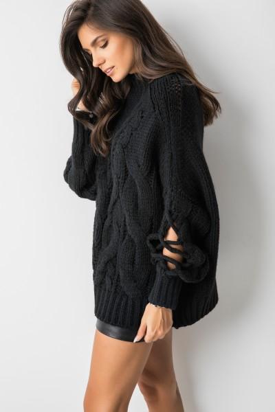 Harii Sweter Oversize Czarny