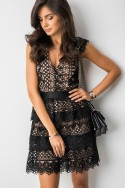 Fendie Sukienka Black/Beige