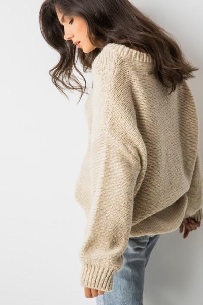Colette Sweter Oversize Beż