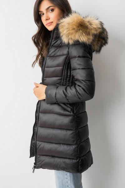 MD2871 Płaszcz Puchowy Black