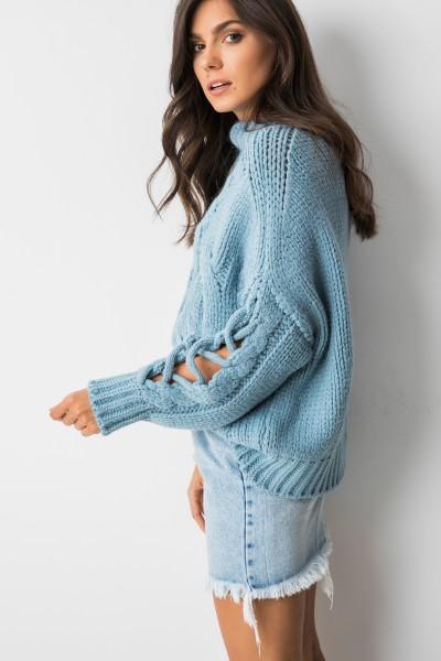 Harii Sweter Oversize Niebieski