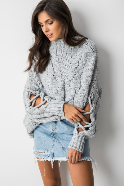 Harii Sweter Oversize Szary