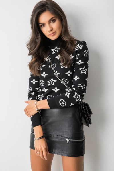 Basim Sweter Wzory Black/White