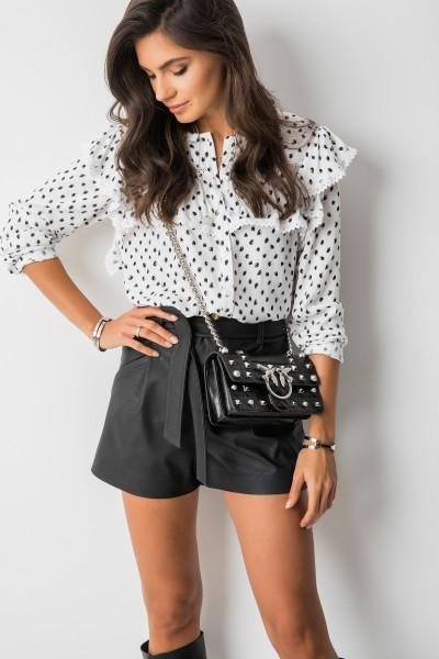 Mira Koszula Grochy White/Black