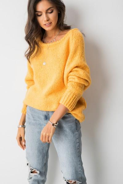 Sydney Sweter Oversize Musztardowy