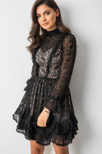 Miray Sukienka Koronkowa Black/Beige