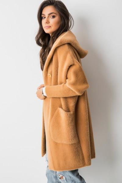 Hatim Płaszcz Z Kapturem Camel