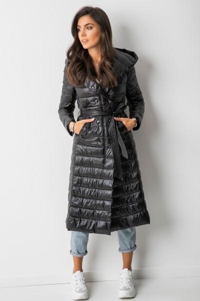 TR917 Dwurzędowy Płaszcz Black