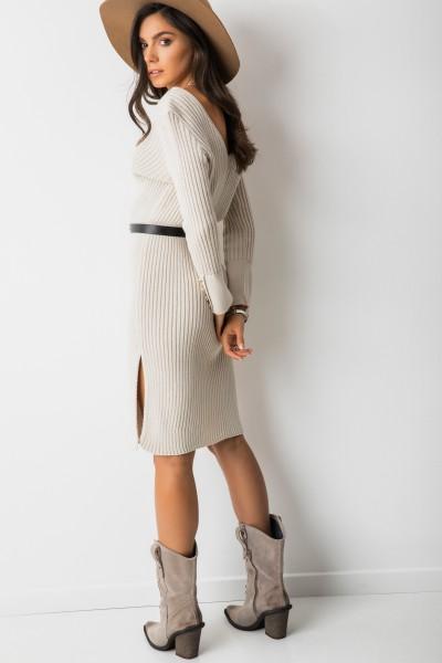 Adila Sukienka Prążki Beż