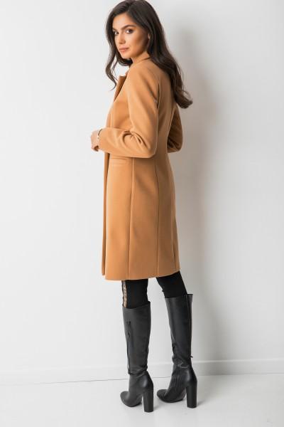 Klasyczny Płaszcz Wełna Camel