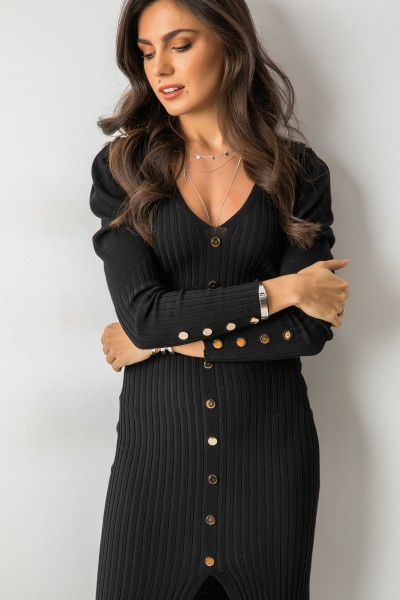 Kofi Sukienka Prążki Black
