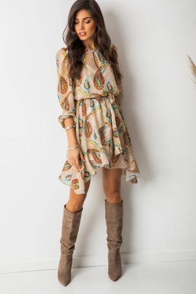 Malia Sukienka Wzory Beż