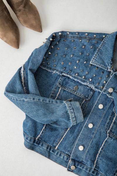 G117 Kurtka Katana Jeans Dark Blue