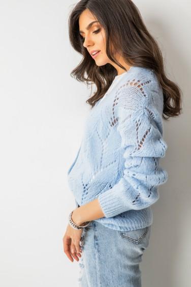 Willy Ażurowy Sweter Błękit