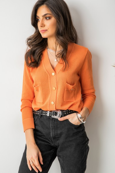 Vito Sweter Rozpinany Orange