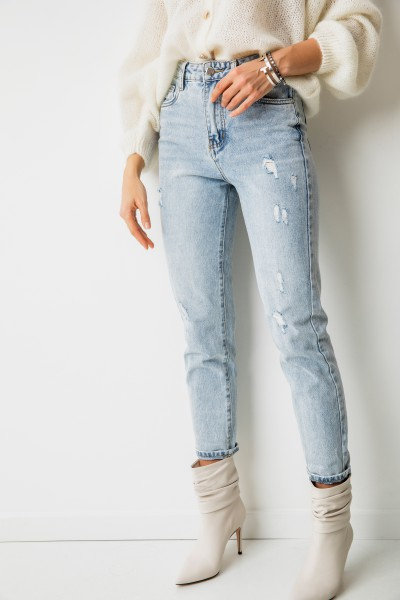 AB962 Spodnie Jeans Mom Fit