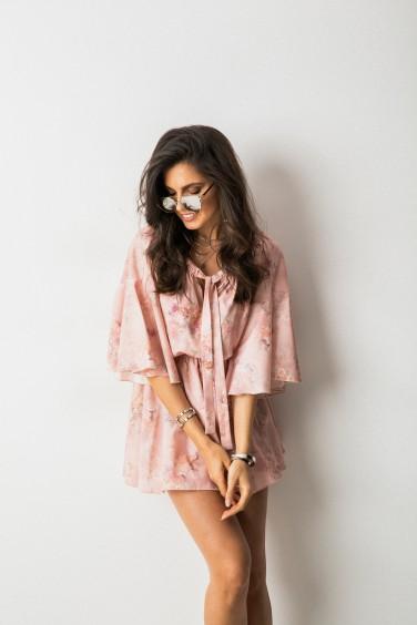 Santana Kombinezon Flower Print Peach