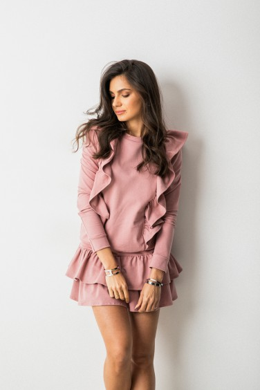 Bella Bluza Pudrowy Róż