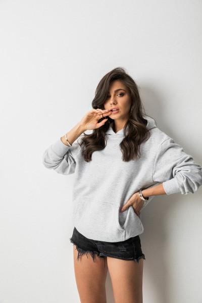 Kayla Bluza Kaptur Grey