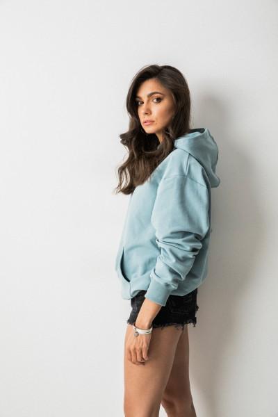 Kayla Bluza Kaptur Blue