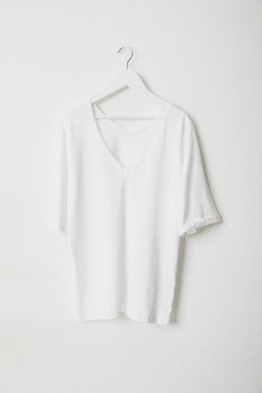 T-Shirt Krótki Rękaw Biały