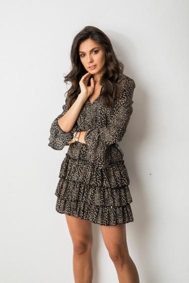 Gaja Sukienka Wzory Black