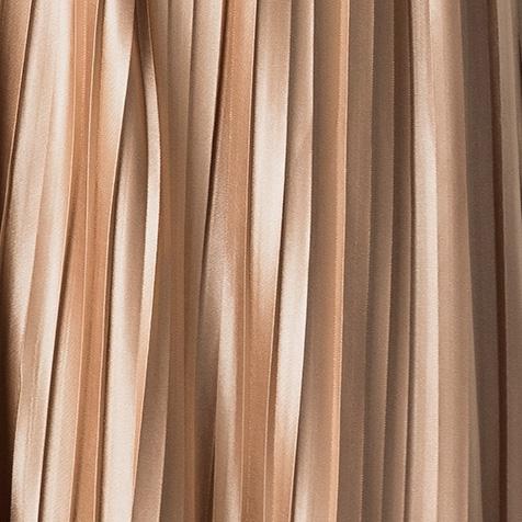 Plisowana Spódnica Midi Cappuccino